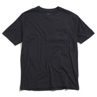 Heather Overdyed Short Sleeve Pocket T-Shirt Black Heather