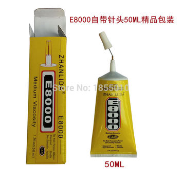 High Quality E8000 Glue 50ml Multipurpose Adhesive Epoxy Resin Diy Jewelry Fix Touch Screen Glue