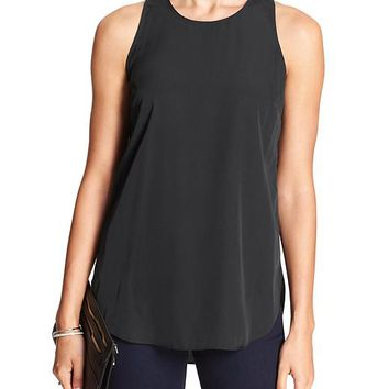 Banana Republic Womens Factory Zip Back Tank