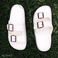 white buckle jandals? - pali hawaii sandals
