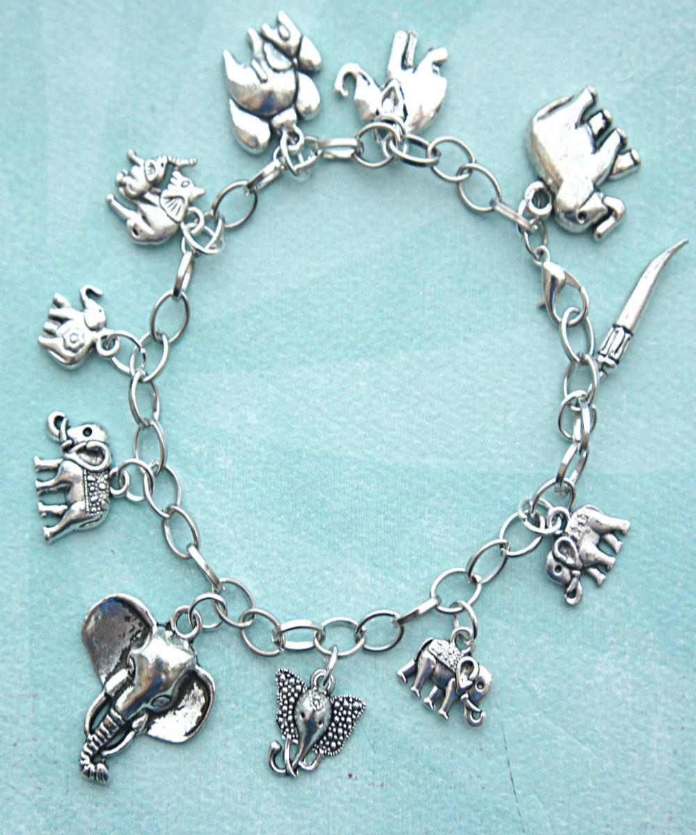 elephant charm bracelet from jillicious elephants