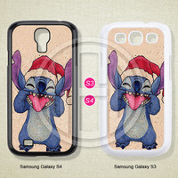 Stitch, Christmas, Phone cases, Samsung Galaxy S3 Case, Samsung Galaxy S4 Case, Case for Samsung Galaxy, Cover Skin -S0768