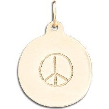 Peace Sign Disk Charm