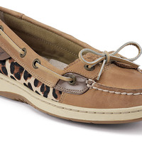 Sperry Top-Sider® Angelfish Slip-On Boat Shoes for Ladies - Linen/Leopard Pony