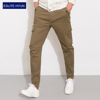 2017 Men's Cargo Pants slim fit Casual Mens Pant Multi Pocket Overall Men Outdoors High Quality Long Trousers plus size 28-38