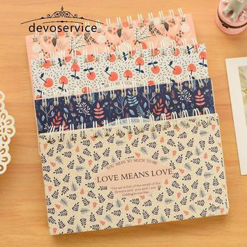 ICIK272 1pc Blooming flower notebook Coil spiral planner Weekly agenda diary book stationery papelaria Material escolar Office supply