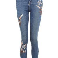 MOTO Floral Embroidered Jamie Jeans | Topshop
