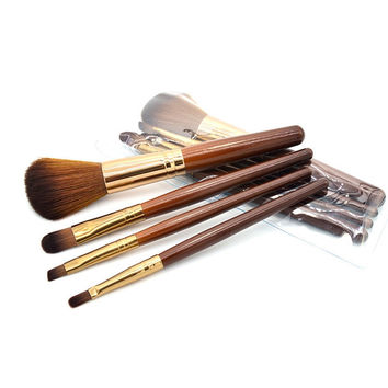 Professional Soft 4Pcs Makeup Eyeshadow Lip Blush Foundation Brush Set Kit Cosmetic Tool Beauty For Free Shipping