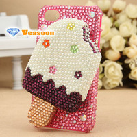 3D iPhone 4 case iPhone 4s case iphone 5 case cell phone cases Rhinestone case phone accessories Ice cream case