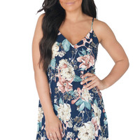 Only In Dreams Navy Floral Dress
