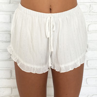 Sparkle In The Sun Ruffle Shorts