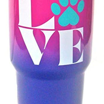 Paw Love Dog and Cat Stainless Steel Travel Tumbler|