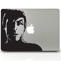 Computer Decals Vinyl MAC DECAL laptop stickers Wall Geekery Geekery-  Star Trek SPOCK - Removable Decal 124
