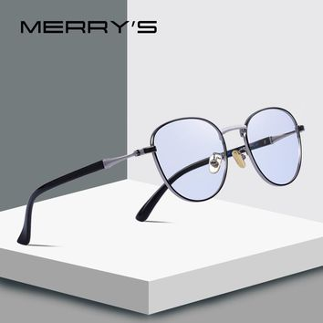 MERRY'S DESIGN Men/Women Fashion Blue Light Blocking Glasses Retro Oval Optical Frames Eyeglasses S'2089