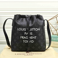 Louis Vuitton Women Fashion College Leather Satchel Bookbag Backpack