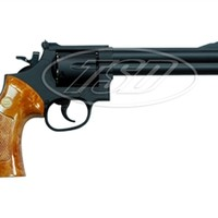 UG135 TSD .357 Airsoft Gas Revolver 6 Inch Barrel ( Black / Wood )