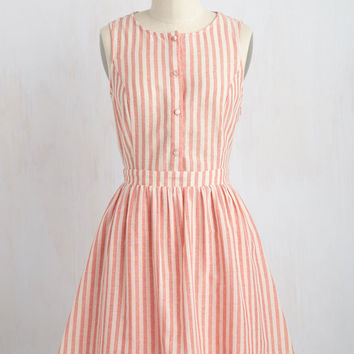 Barnhouse Bash Dress in Muted Red