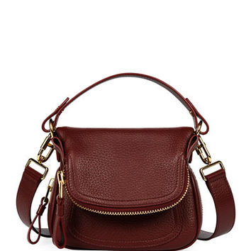 TOM FORD Jennifer Small Grained Leather Shoulder Bag