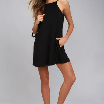 RVCA Pipe Dream Black Swing Dress
