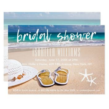Tropical Ocean Beach Bridal Shower Card