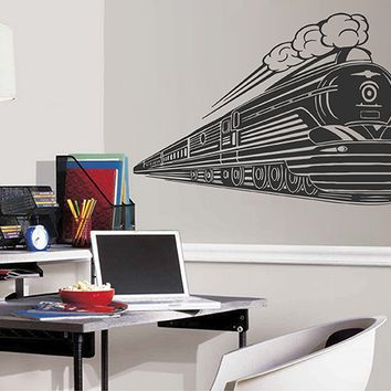 ik2878 Wall Decal Sticker train transport children's bedroom living room