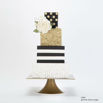 Gold Square Wedding Cake Stand