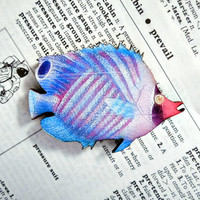 no.8 Wood Tropical Fish Magnet - Colorful Wooden Fish Magnet