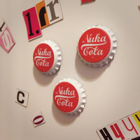 Inspired by: Fallout New Vegas - Nuka Cola style fridge magnets x3 - Screen Accurate Prop Replicas