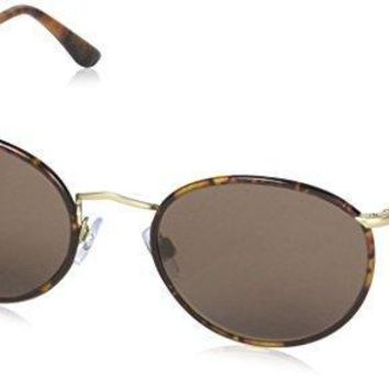 Giorgio Armani Sunglasses (ar6016j) Gold Matte/brown Metal Non Polarized 51mm