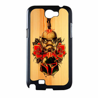 Star Wars Roses Tatto In Wood Samsung Galaxy Note 2 Case