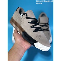 KUYOU A273 Adidas x Alexander Wang Suede Thick Bottom Plate Shoes Grey