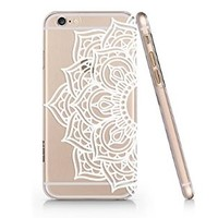 SUPERTRAMPshop - Henna White Floral Paisley Flower Mandala Custom Made Cover for iphone 6 6s