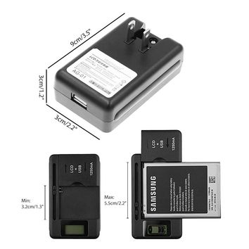 Universal Battery Charger LCD Indicator Screen For Cell Phones USB Chargers For Spare Batteries with US Plug