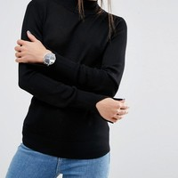 ASOS PETITE Sweater With Turtleneck in Soft Yarn at asos.com