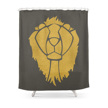 Society6 Not So Cowardly Lion Shower Curtain