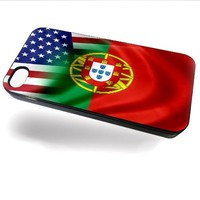 Case for iPhone 5 with Flag of Portugal and USA