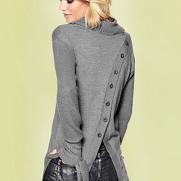 GREY Button detail sweater from VENUS