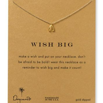 """Dogeared Wish Big Necklace, 18"""" 