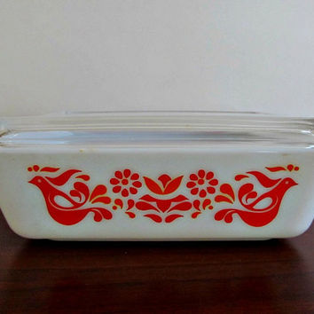 Pyrex Refrigerator Dish in Friendship Pattern