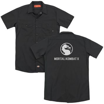 Mortal Kombat X - Dragon Logo (Back Print) Adult Work Shirt