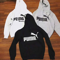Puma cotton round neck long-sleeved sweater street men and women lovers section