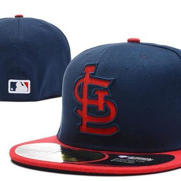 ESBON St. Louis Cardinals New Era MLB Authentic Collection 59FIFTY Hat Blue-Red