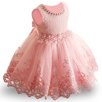 Lace Baby Girl Dress 9M-24M 1 Years Baby Girls Birthday Dresses Vestido birthday party princess dress