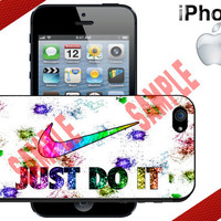 Nike Just Do It Sparkle iPhone 5 Case - iPhone 4 Case or iPhone 5 Case - Nike Case - Hard Plastic iPhone Case