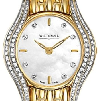 Wittnauer Winter Garden Collection Sapphire Women's Gold Diamond Watch 12R35