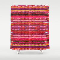 Love you More Shower Curtain by Ingrid Padilla