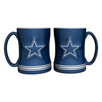 Dallas Cowboys 2-pc. Relief Coffee Mug Set (Cow Team)