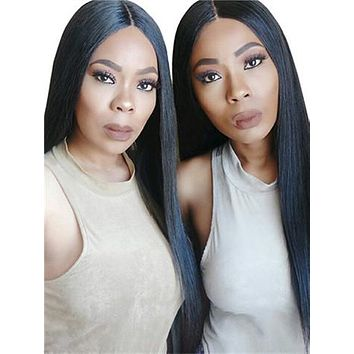 Straight Brazilian Pre-Plucked Hairline Remy Lace Front Human Hair Wig