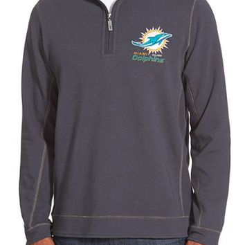 Men's Tommy Bahama 'Ben & Terry - Miami Dolphins' NFL Quarter Zip Pullover,