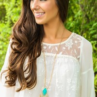 Queen For A Day Necklace-Turquoise